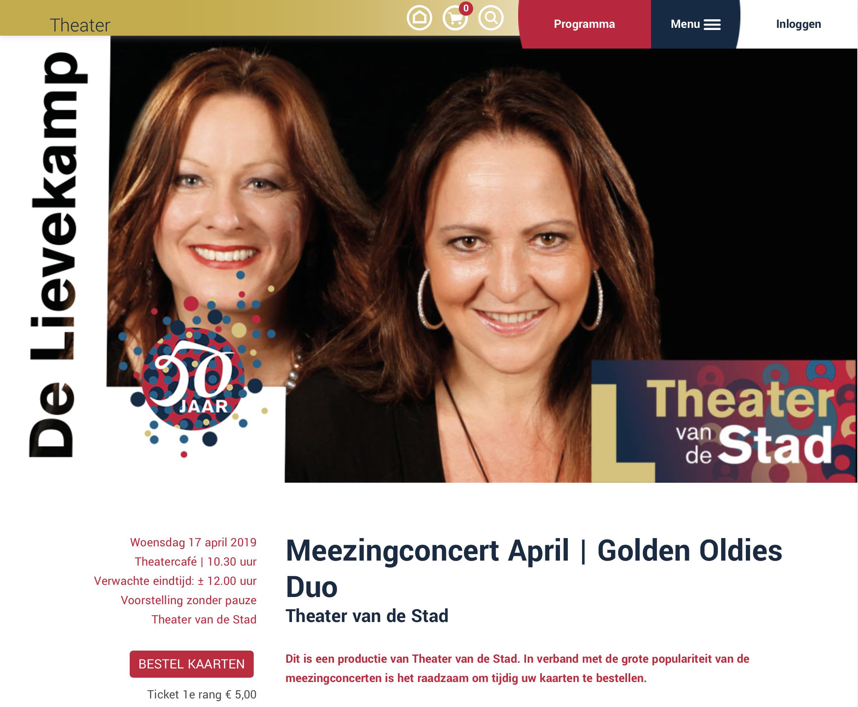 2e Meezingconcert Theater De Lievekamp